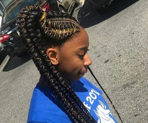 beauty, blue, and braids image