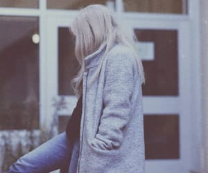 alone, blonde girl, and cold image