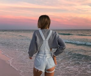 beach, sunset, and breeze image