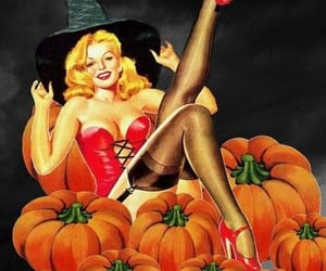 Pin Up, Halloween, and pinup image