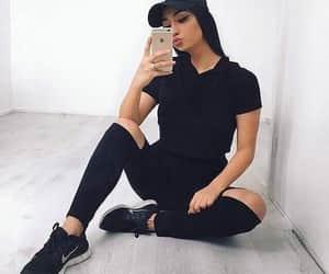 black, selfie, and girl image