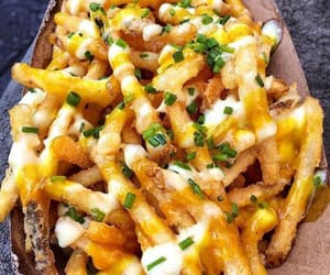 cheese, food, and French Fries image