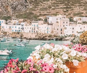 flowers, Island, and italy image