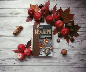 apples, book, and Halloween image