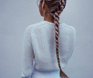 braids, long, and haïr image