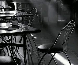 black, sunlight, and cafe image