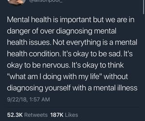 mental health, quotes, and twitter image