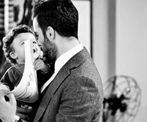 gif, dad and son, and love image