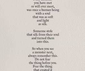monster, quotes, and nikita gill image