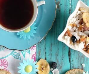 blue, tea, and coffee image