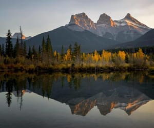 The Three Sisters in Canmore by Jack Bolshaw