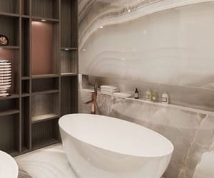 bathroom, bath, and design image