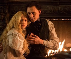 tomhiddleston, miawasikowska, and crimsonpeak image