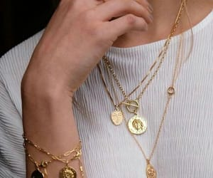 accessories, jewelry, and gold image