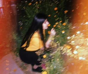 girl, cute, and yellow image