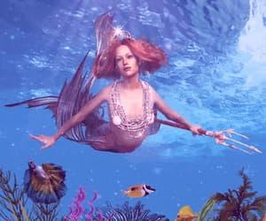 aquatic, art, and lady image