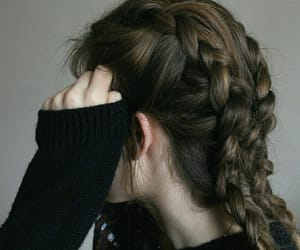 braid, hair, and brown hair image
