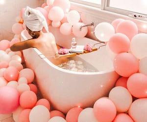 balloons, bath, and cute image