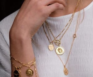 gold, jewelry, and style image