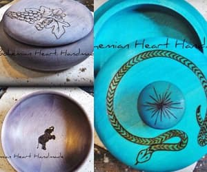 blue, burned, and bowls image