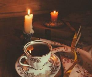 candle, tea, and autumn image