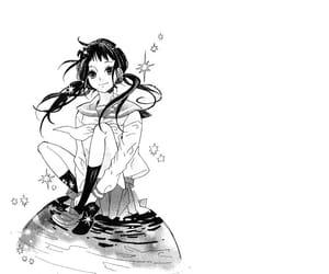 girl, manga, and monochrone image