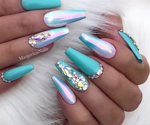 nails, design, and blue image