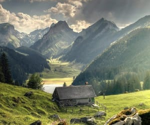 beautiful, countryside, and mountain image
