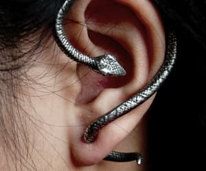 snake, earrings, and ear image