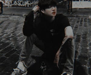 tattooed, bts, and jungkook image