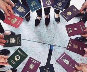 travel, passport, and friends image