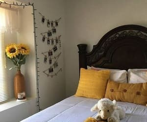 yellow, bedroom, and decor image