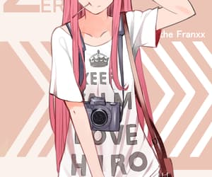 anime, zero two, and darling in the franxx image
