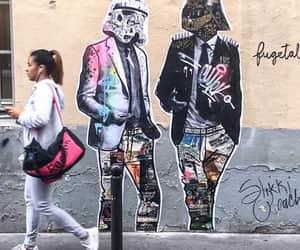 darth vader, star wars, and street art image