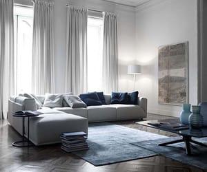 bianco, divano, and blue image