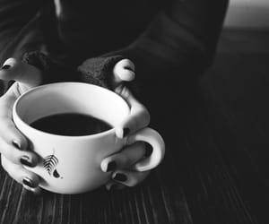 alternative, black and white, and coffee image