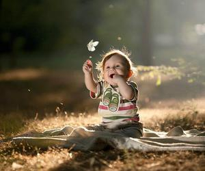 baby, cute, and butterfly image