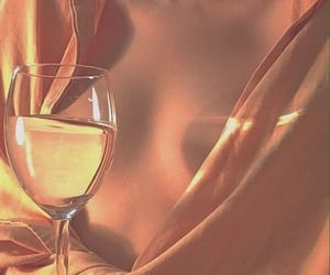 aesthetic, peach, and wine image