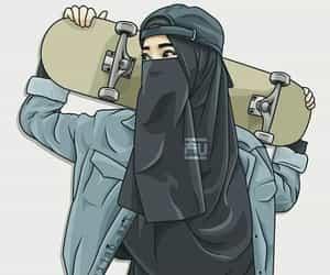 art, hijab, and modest fashion image
