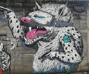 creative, dog, and streetart image