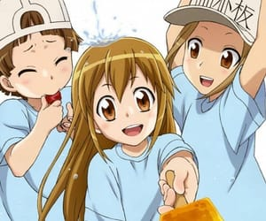cute, anime girls, and cells at work image