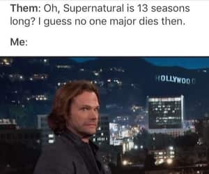 dean winchester, castiel, and jared padalecki image