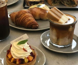 bread, coffee, and dessert image