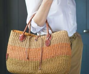 etsy, vintage ethnic bag, and sisal bag brown image