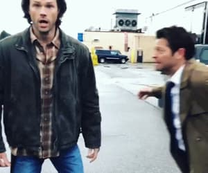 dean winchester, haha, and castiel image