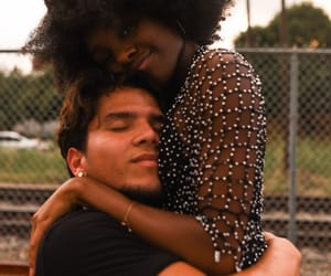 Afro, boyfriend, and interracial image