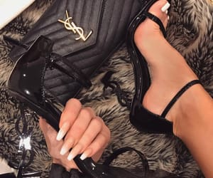 nails, YSL, and black image