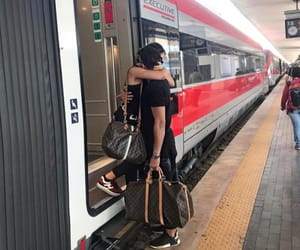 love, couples, and train image