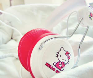 hello kitty, pink, and girly image