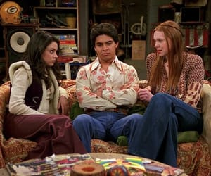 fez, Mila Kunis, and that 70's show image